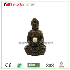 Decorative Polyresin Buddha Head Oriental Statue with Antique Stone Look for Home and Garden Decoration pictures & photos