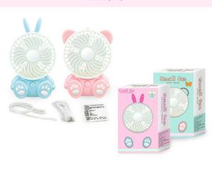 Mini LED Cartoon Princess Rabbit Cool Bear Electricize Fan pictures & photos