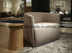 American Style Living Room Wood Fabric Sofa (D-82) pictures & photos