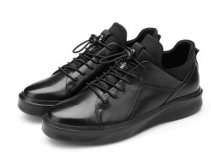 High Level Black Leather Shoes (CAS-060)