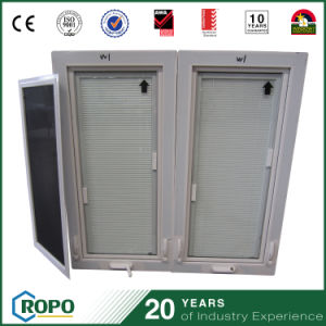 PVC Double-Pane Windows with Built in Blinds pictures & photos