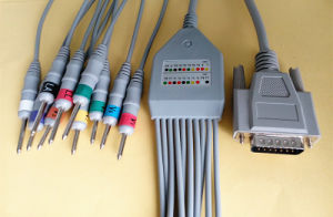 Nihon Kohden 15pin Aha DIN3.0 EKG/ECG Cable pictures & photos