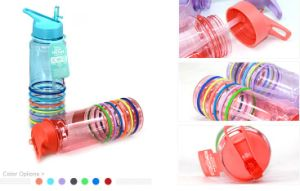 750ml Silicone Band Food Standard Water Bottle