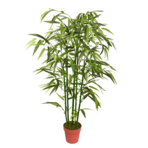 Artificial Natural Stem Bamboo Plant Tree with Plastic Pot