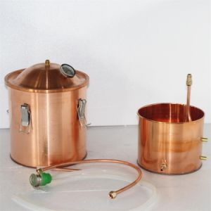10L Copper Pot Wine Distiller Portable Home Water Distiller pictures & photos