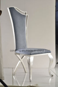 Restaurant Metal Dining Chair with Leather