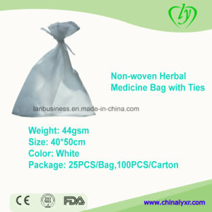 Non Woven Herbal Medicine Bag with Ties pictures & photos