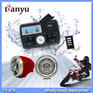 Waterproof Motorcycle Alarm LCD Clock Audio System USB SD FM MP3 Function pictures & photos