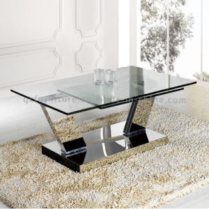 Simple Style Extentable Stainless Steel Metal Coffee Table pictures & photos