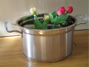 Capsuled Bottom Stainless Steel Saucepan Sets pictures & photos