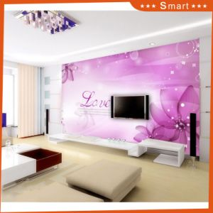 Home Decoration Oil Painting with Romantic Purple Flowers Pattern Design pictures & photos