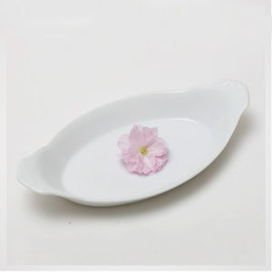Latest New Ceramic Tapas Serving Oval Plates with Ears pictures & photos