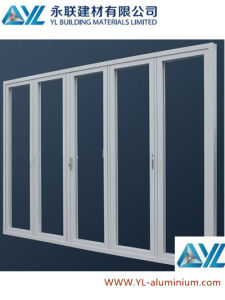 Heavy Duty Thermal Break Aluminum Floding Door with Double Glasses pictures & photos