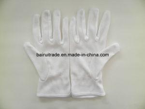 White Cotton Gloves Plastic Gloves Points Plastic Gloves Etiquette Slip White Work Gloves pictures & photos