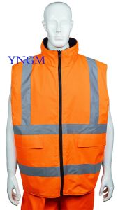 Reflective Safety Jacket/Vest with Zipper pictures & photos