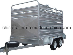 Hot Sales Heavy Duty Galvanised Box Trailer with Gas Support Tilt pictures & photos