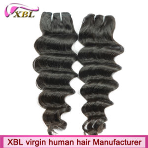 Natural Black One Donor Loose Deep Brazilian Human Hair Bundles for Cheap pictures & photos