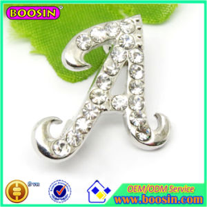 Zinc Alloy Custom Wholesale Letter a Crystal Brooch Pin pictures & photos