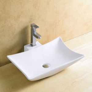 Bathroom Top Mounted Single Faucet Hole Ceramic Basin
