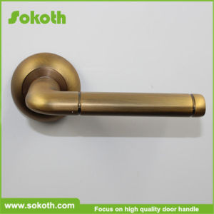 Sokoth Hot Sell Coffee Gold Classic Aluminum Door Lever Handle pictures & photos