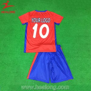 Healong Designer Sportswear Dye Sublimation Conjoined Football Jersey pictures & photos