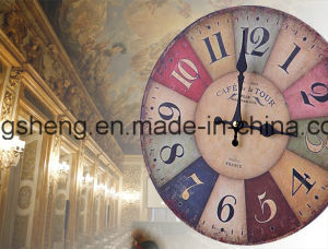 "New 12"" Vintage Style France Paris Colorful Wood Wall Clock pictures & photos"