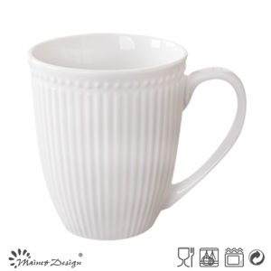 Stripe and Dots Embossed Ceramic Mug pictures & photos
