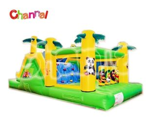 Funny Tropical Coconut Tree Inflatable Kids Obstacle Course pictures & photos