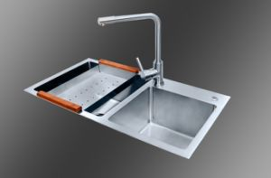 Handmade Kitchen Stainless Steel Sink (8145S) pictures & photos