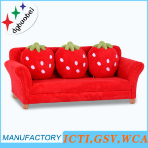 Three Seat Strawberry Fabric Sofa/ Home Sofa (SXBB-281-4) pictures & photos