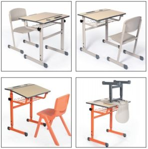 Adjustable Desk, School Classroom Desk and Chair pictures & photos
