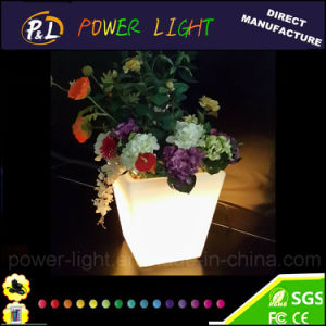 Garden Furniture Rechargeable Square Colorful LED Plant Pot pictures & photos