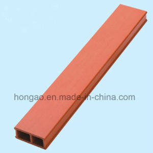 Waterproof 38*12mm Square Tube Wood Plastic Composite Indoor Decoration