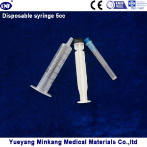 Medical Products 3 Parts Disposable Plastic Syringe with Needle (5ml) pictures & photos