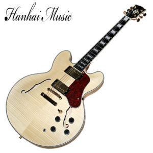 Hanhai Music / Semi-Hollow Es-335 Electric Guitar with Flame Maple Veneer pictures & photos