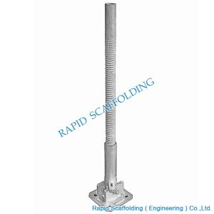 High Quality Electro Plate Galvanized Screw Base Jack Scaffolding pictures & photos