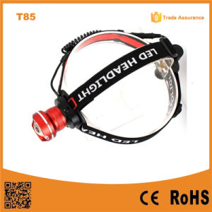 T85 Xml T6 LED Camping Rechargeable LED Headlamp pictures & photos