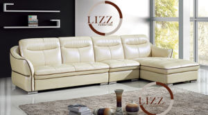 New Design Black Modern Leather Sofa Furniture L. P2802 pictures & photos