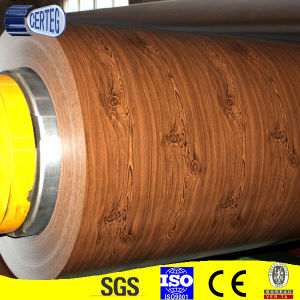 Wood pattern painted steel coil pictures & photos