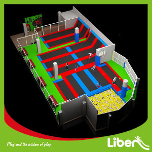 Rectangular Big Kids Indoor Fitness Trampoline Park Equipment pictures & photos