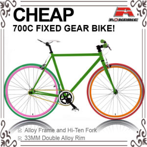 Cheap Hi-Ten 700c Fixed Gear Bicycle with Front and Rear Caliper (ADS-7050S) pictures & photos