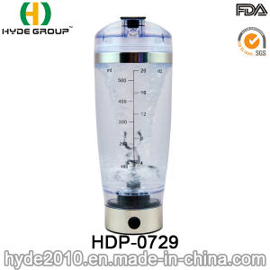 USB Charge Popular 600ml Vortex Shaker Bottle, BPA Free Plastic Electric Protein Shaker Bottle (HDP-0729) pictures & photos