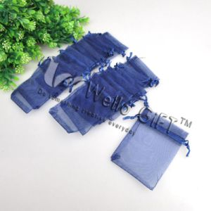 Navy Blue Small Organza Gift Bag Wholesale (COB-1101) pictures & photos