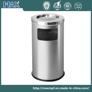 Stainless Steel Indoor Garbage Bin with Ashtray on Top pictures & photos