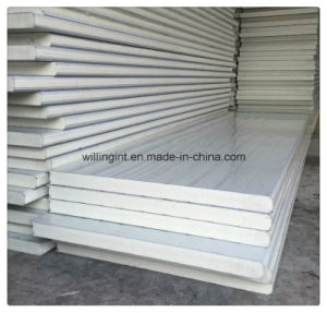 Constuction Decoration Materials PU Sandwich Panel for Wall pictures & photos