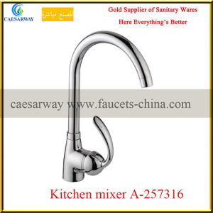 Chrome Plated Single Lever Water Kitchen Sink Faucet