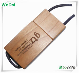 Novelty Wooden USB Stick with Lanyard as Promotional Gift (WY-W28) pictures & photos