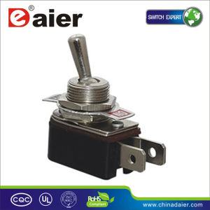 12V 2way on-off DIN Rail Toggle Switch (KNH-1) pictures & photos