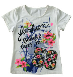 Popular Flower Children Girl T-Shirt for Kids Clothing Sgt-024 pictures & photos
