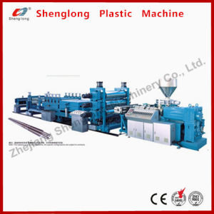 PVC Conical Twin-Screw Corrugated Sheet Extrusion Machine pictures & photos
